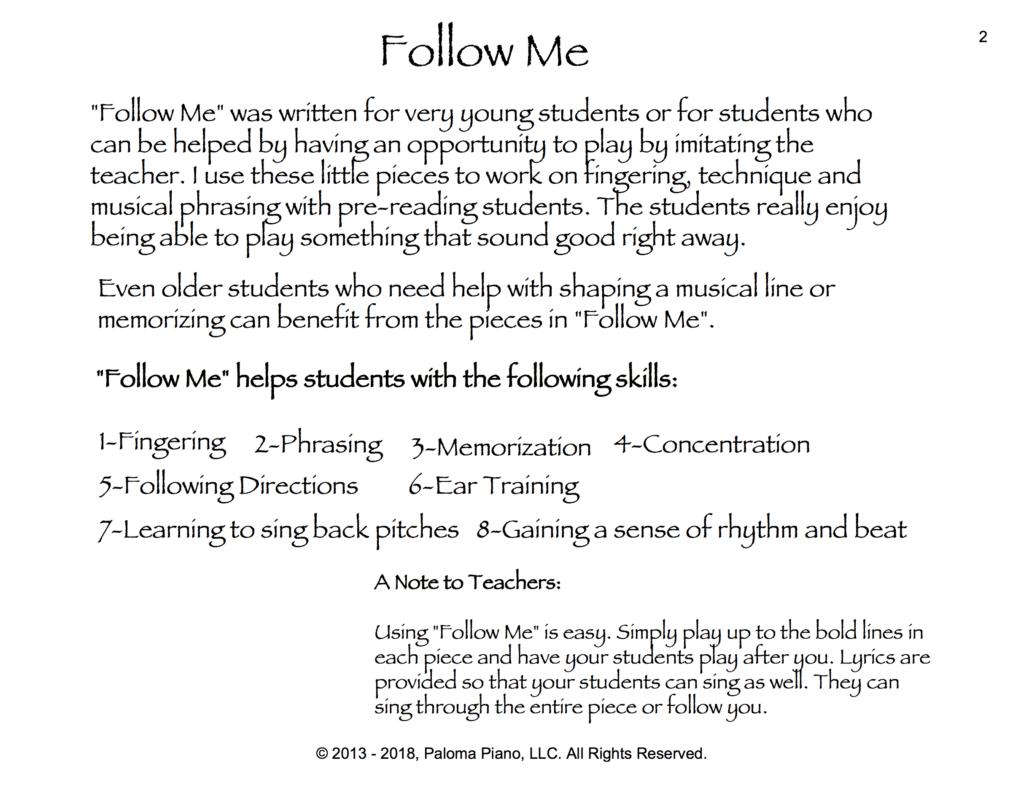 Paloma Piano - Follow Me Too - Page 2