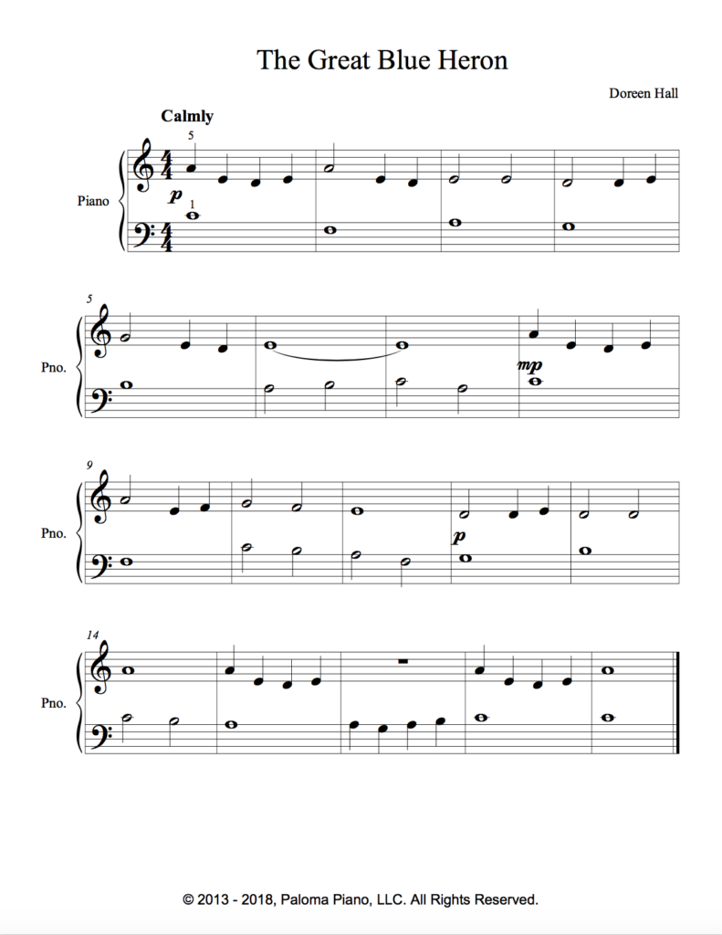 Paloma Piano - The Great Blue Heron - Page 2