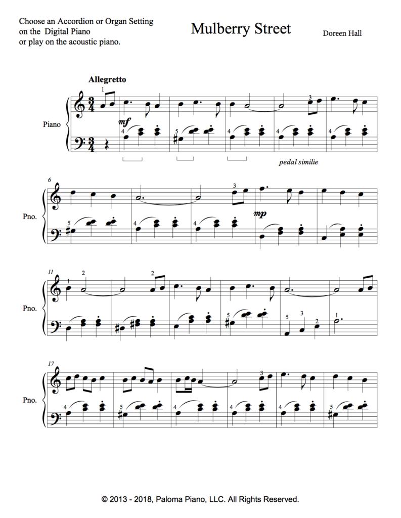 Paloma Piano - Mulberry Street - Page 1