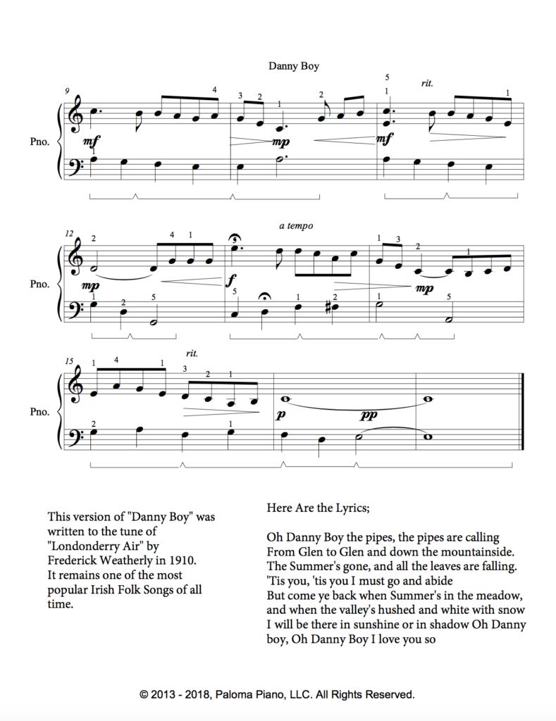 Paloma Piano - Danny Boy - Page 2