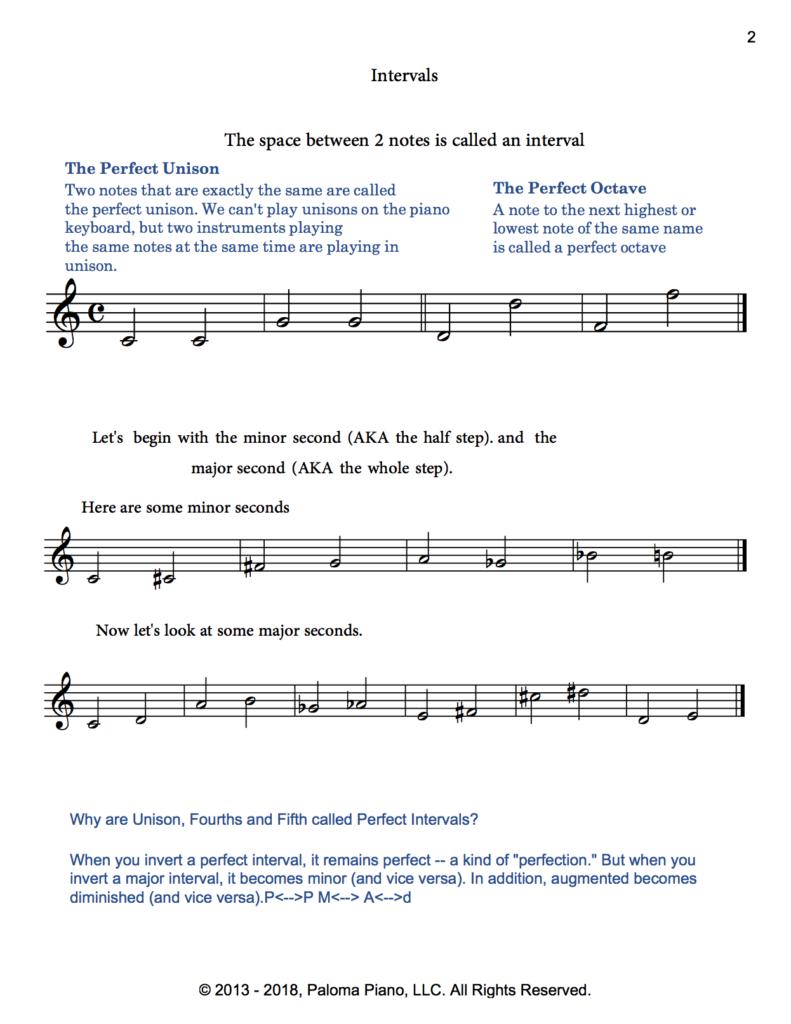 Paloma Piano - Music Theory - Intervals - Page 2