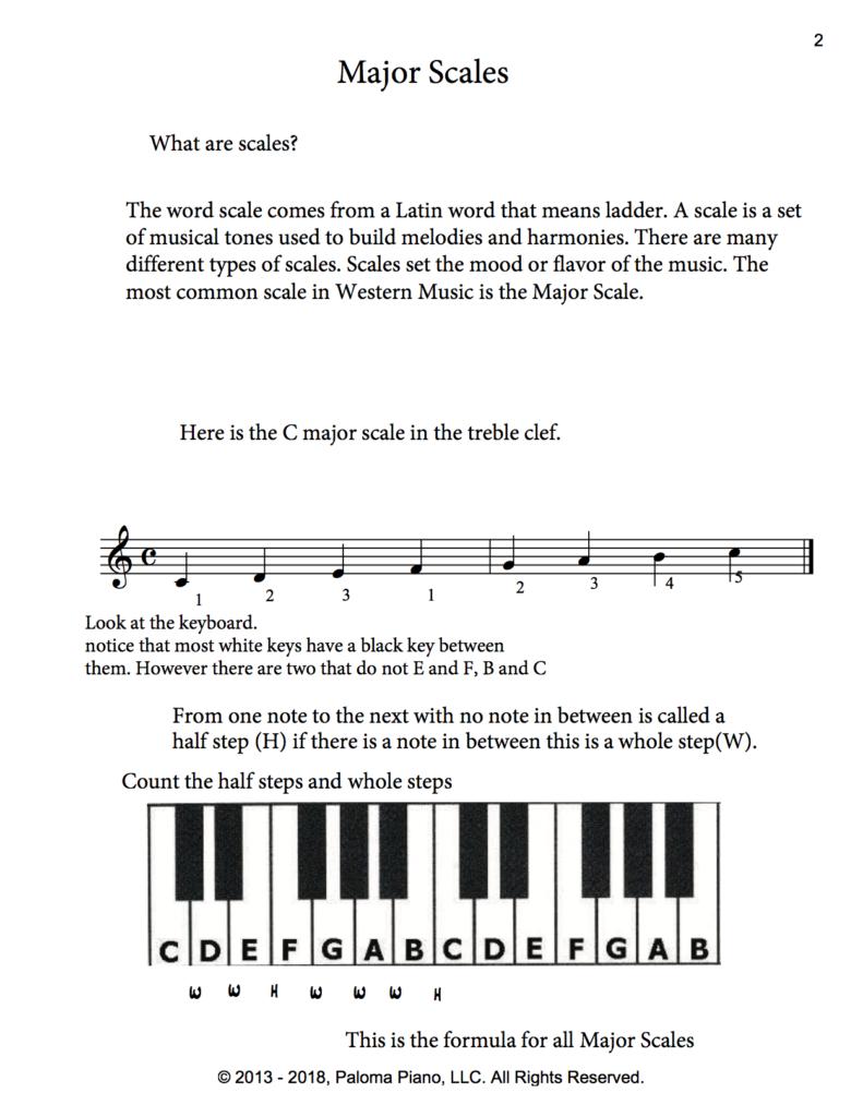 Paloma Piano - Music Theory - Major Scales - Page 2