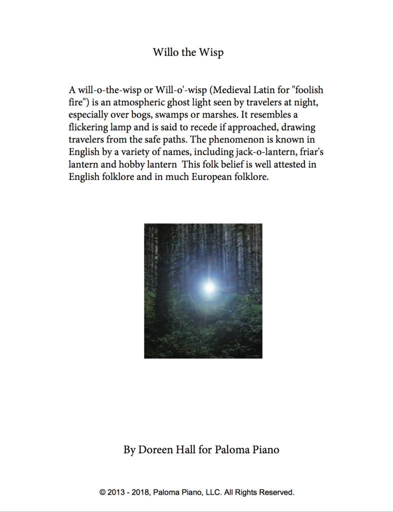 Paloma Piano - Will o' the Wisp - Page 1