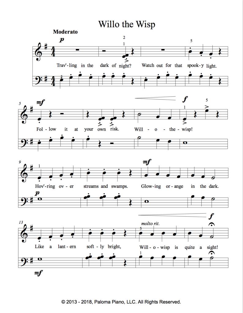 Paloma Piano - Will o' the Wisp - Page 2