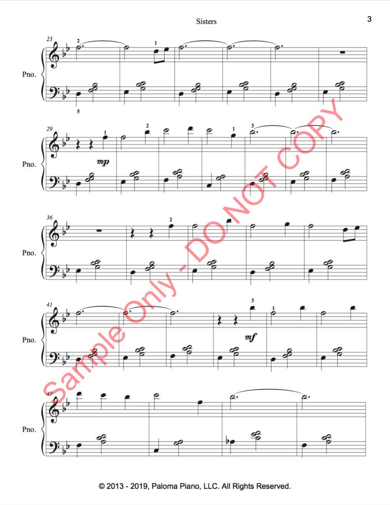 Paloma Piano - Sisters - Page 3