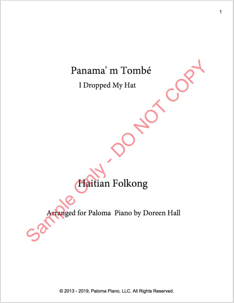 Paloma Piano - Panama 'm Tombe - Page 1