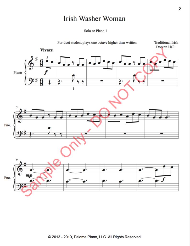 Paloma Piano - Irish Washerwoman - Page 1