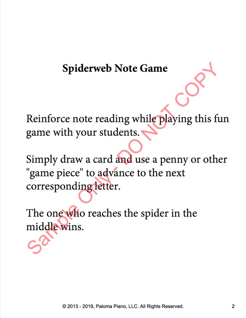 Paloma Piano - Spiderweb Note Game - Page 2