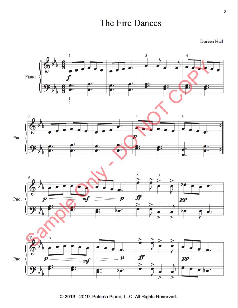 Paloma Piano - The Fire Dances - Page 1