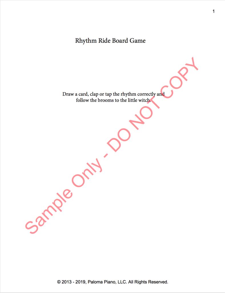 Paloma Piano - Rhythm Ride Game - Page 1