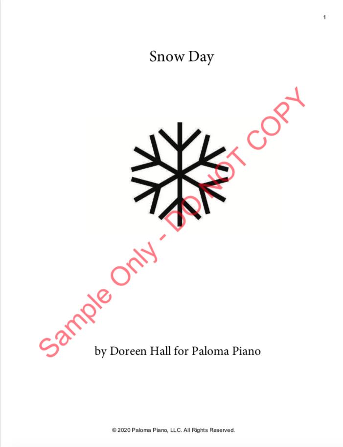 Paloma Piano - Snow Day - Page 1
