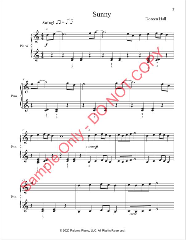 Paloma Piano - Sunny - Page 1