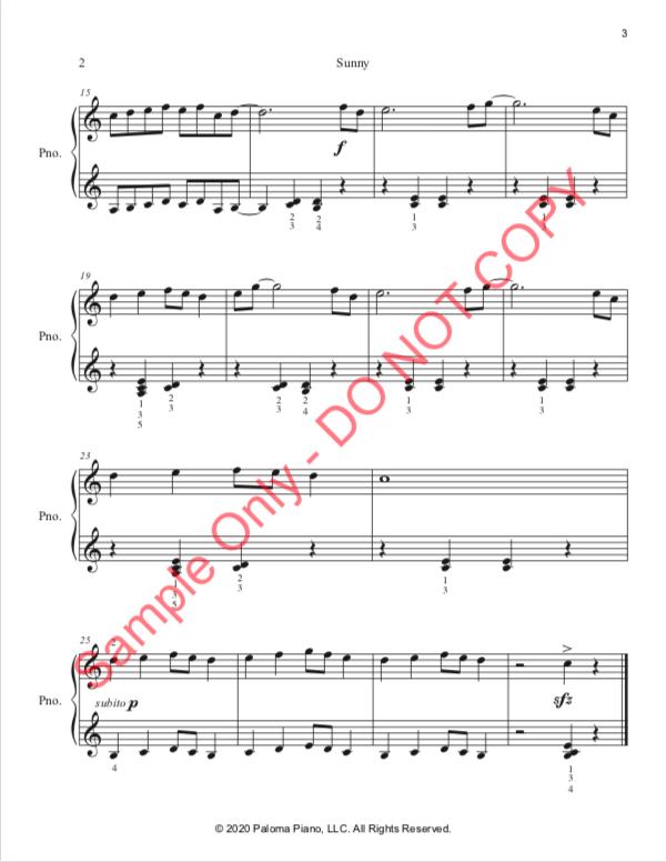 Paloma Piano - Sunny - Page 2