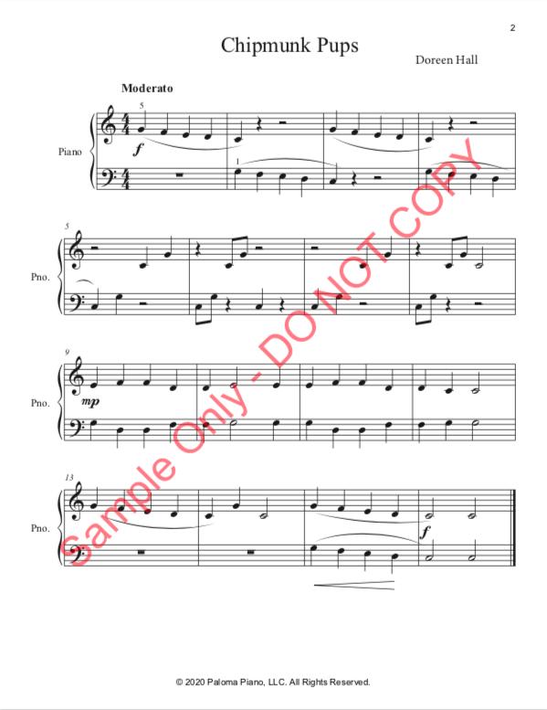 Paloma Piano - Spring Baby Animals - Chipmunk - Page 2