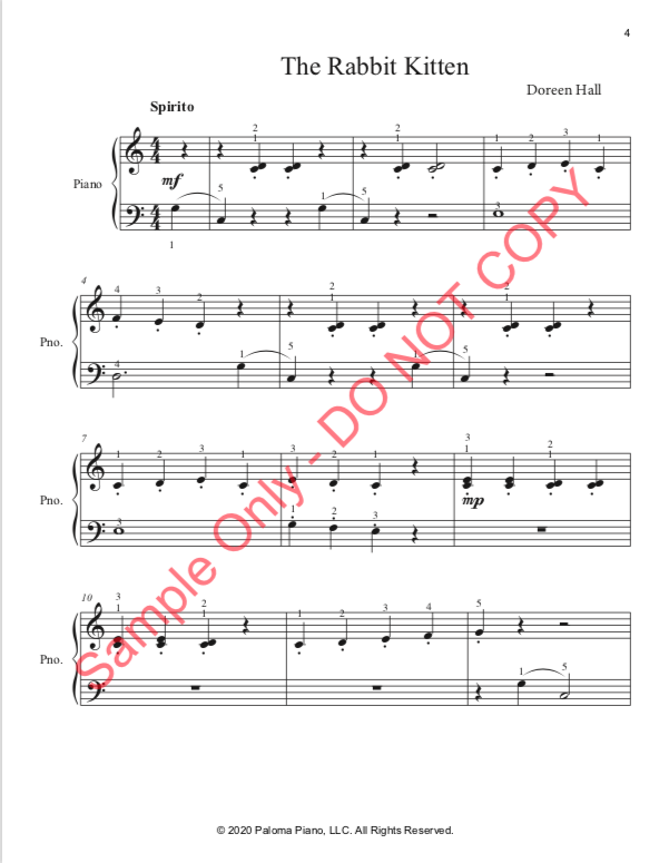 Paloma Piano - Baby Animals Spring - Rabbit - Page 4