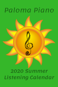 2020 Summer Listening Calendar