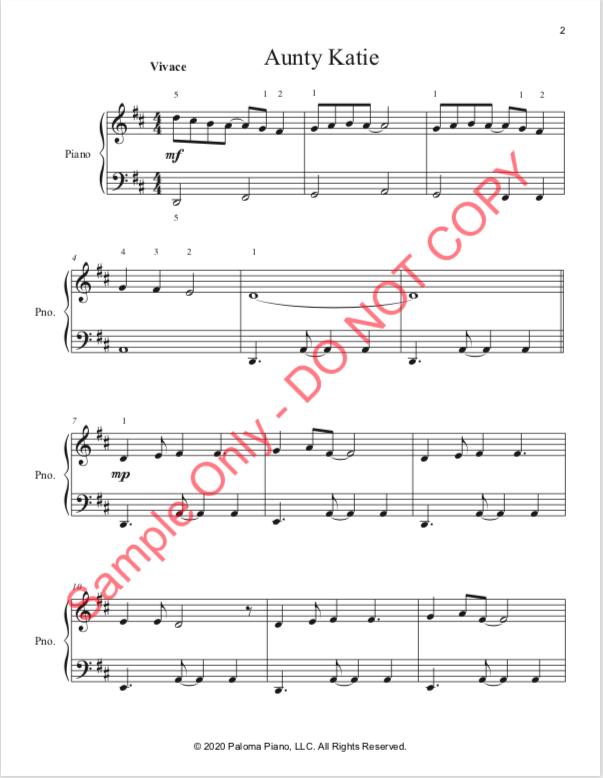 Paloma Piano - Aunty Katie - Page 2