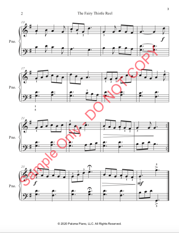 Paloma Piano - Fairy Thistle Reel - Page 3