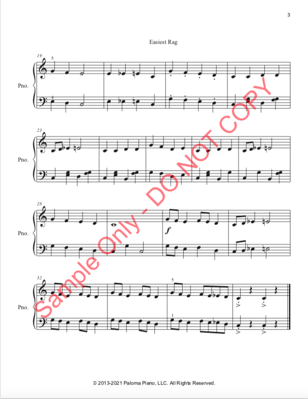 Paloma Piano - Easiest Rag - Page 2