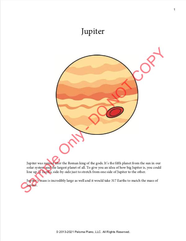 Paloma Piano - Jupiter - Page 1