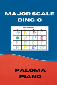 Major Scale Bingo