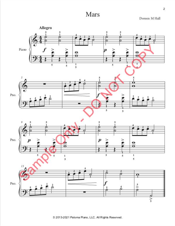 Paloma Piano - Mars - Page 2