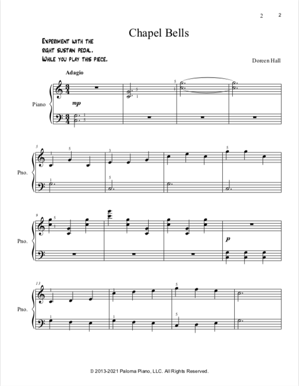 Paloma Piano - Chapel Bells - Page 2