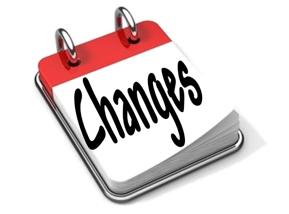 BIG Changes: MUST READ!
