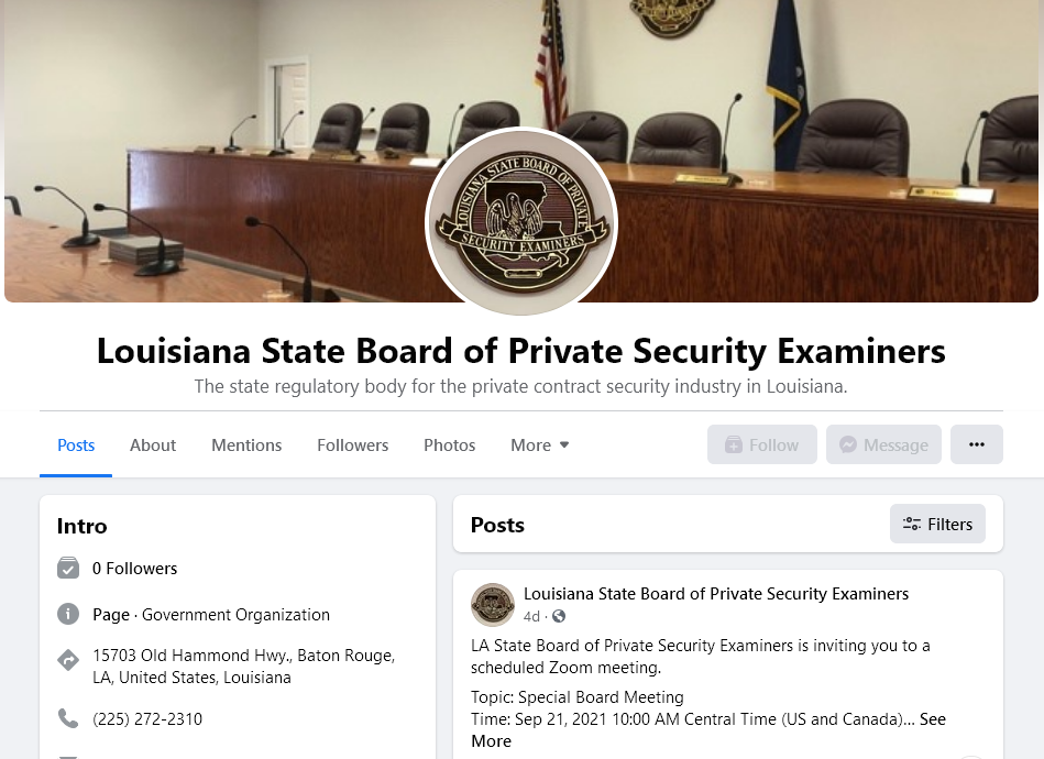 LSBPSE Facebook Page