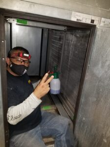 Commercial coil cleaning