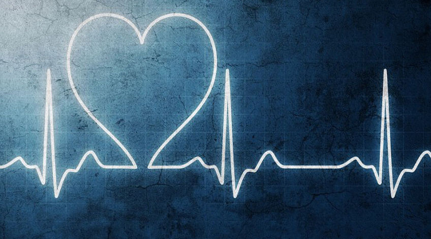 a heart in a heart scan wave