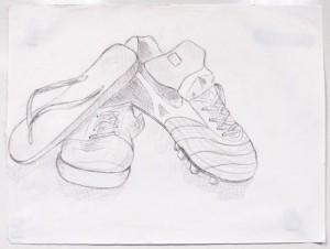Contour of shoes