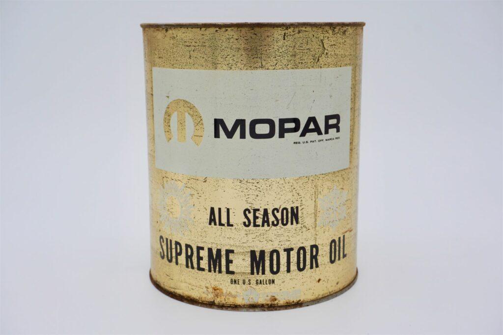 Vintage Mopar All Season Supreme Motor Oil can, 1 gallon.