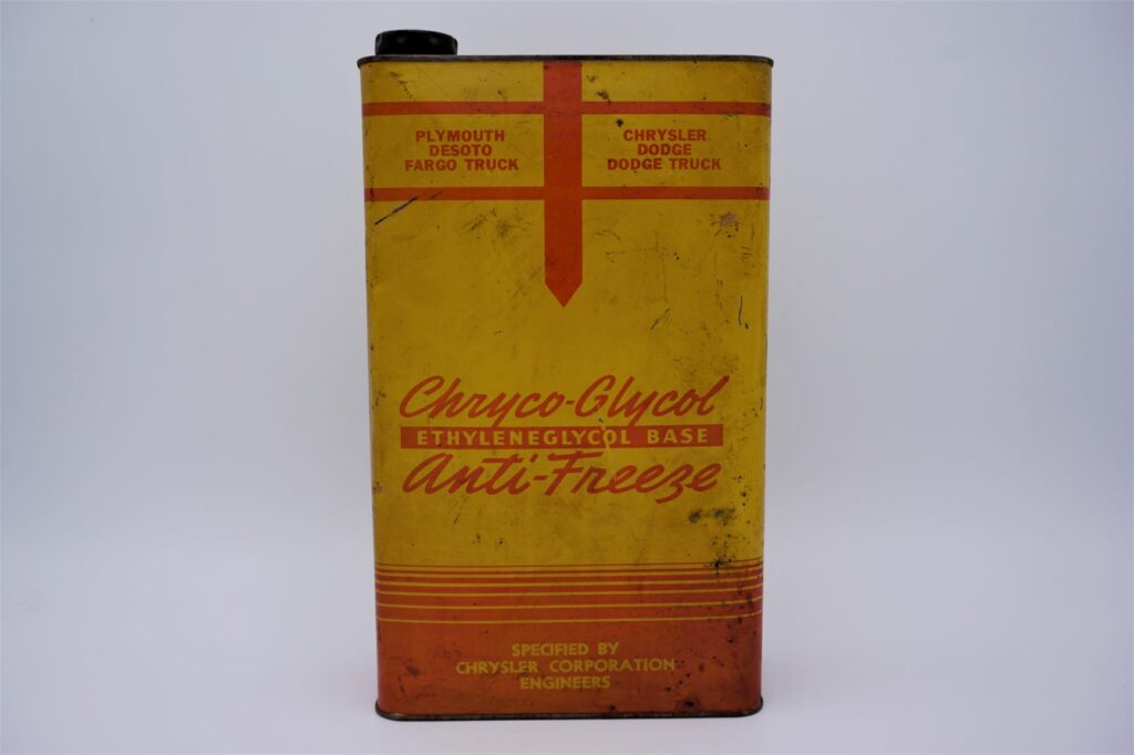 Antique Chryco Glycol Anti-Freeze can, 1 imperial gallon.