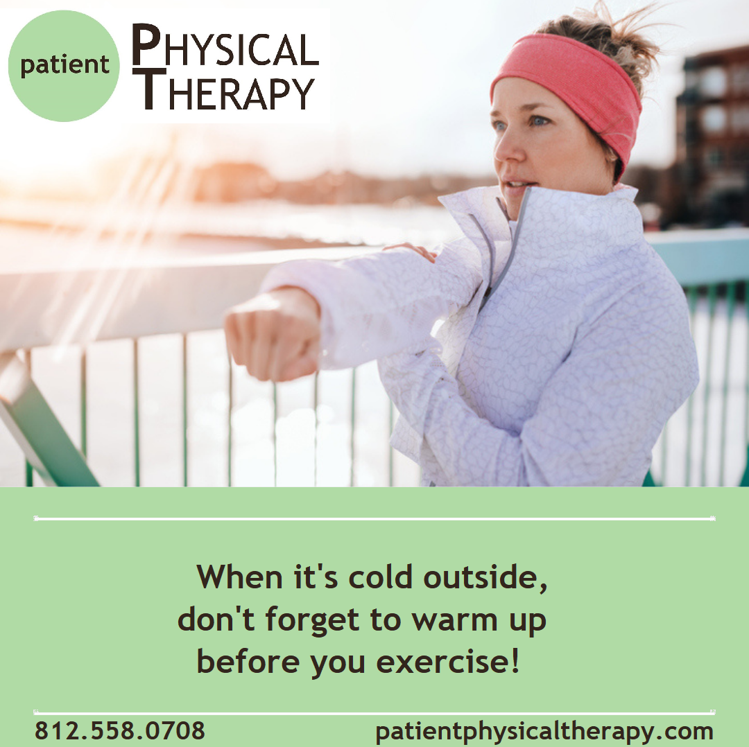 When it's cold outside, don't forget to warm up before exercise