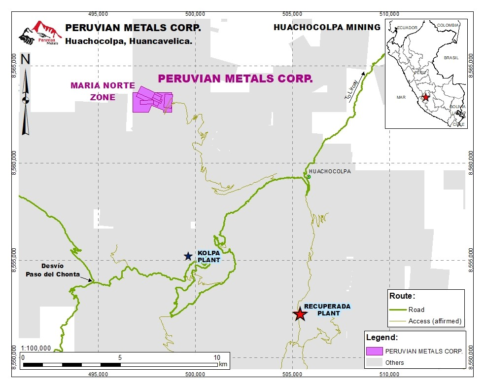 Minas Marie Norte Project Map