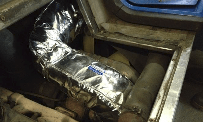 blankets for engine exhaust