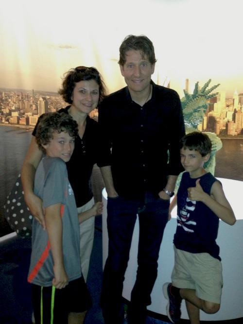 Nathan Sawaya and my family