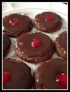 Double Chocolate Cherry Cookies