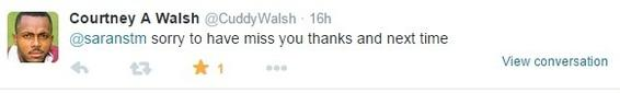 The Great man's tweet which was the new year gift to me
