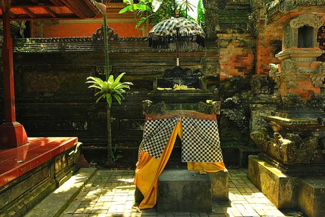 Supreme God, Ida Sang Widi Wasa represented in Padmasana or empty throne