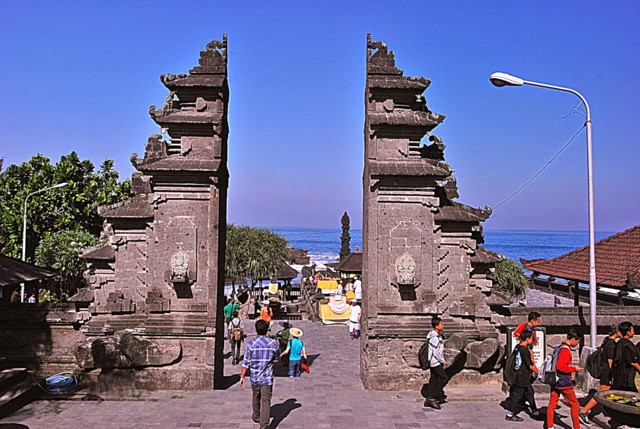 Entrance to the Tanah Lot temple
