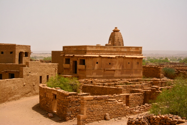Temple in good condition in Kuldhara but the idols within were stolen