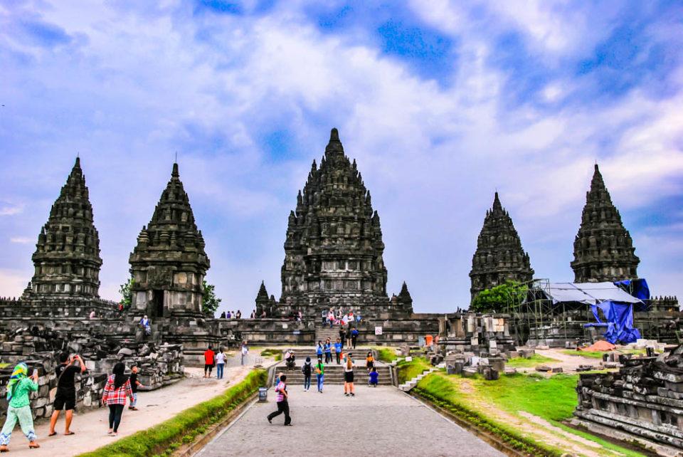 Inside Prambanan temple complex