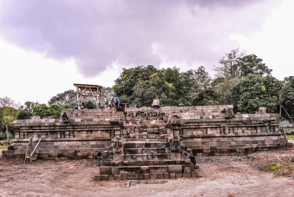 Candi Bubrah - just a platform is there while renovation goes on