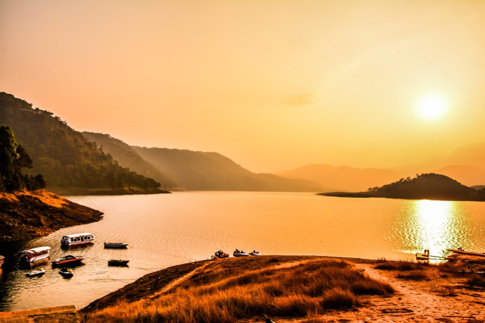 Umiam Lake is a reservoir outside of Shillong created by damming the Umiam river.