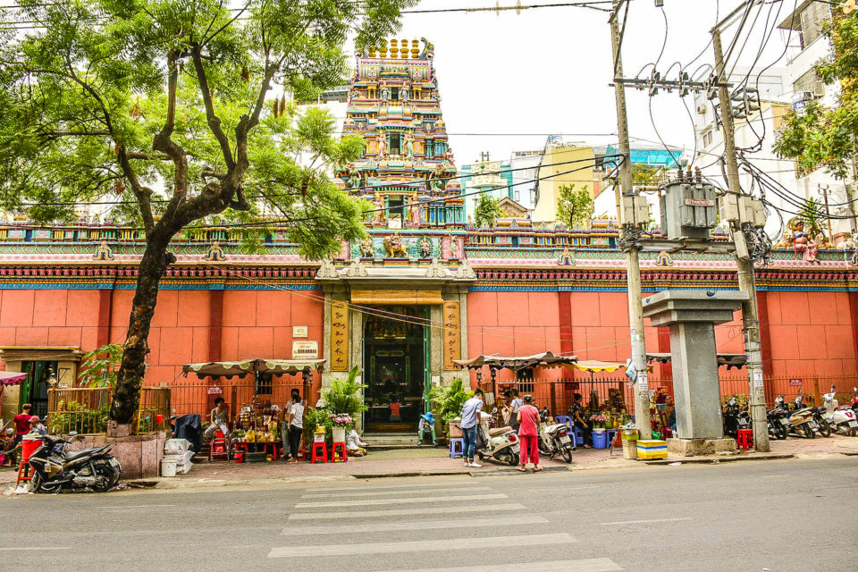Mariamman temple built by Tamil traders in 19th century in Ho Chi Minh City(aka Saigon)