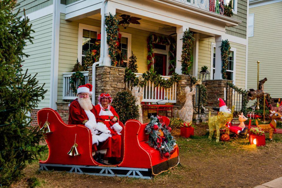 Residents play Santa for children visitng McAdenville