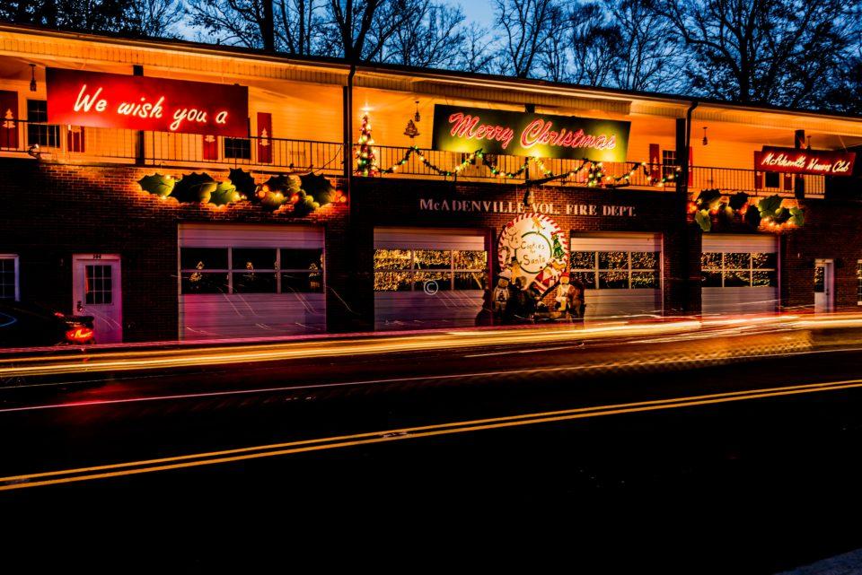 McAdenville firestation decorated for Christmas