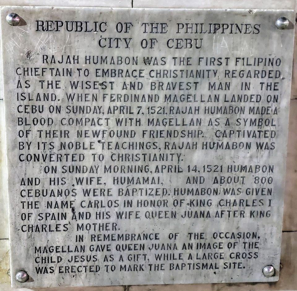 Plaque at the monument